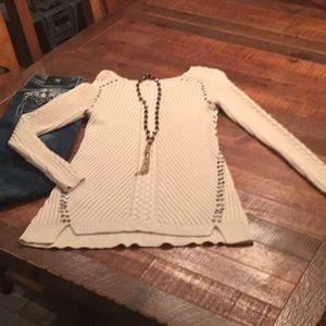 Cream tunic sweater